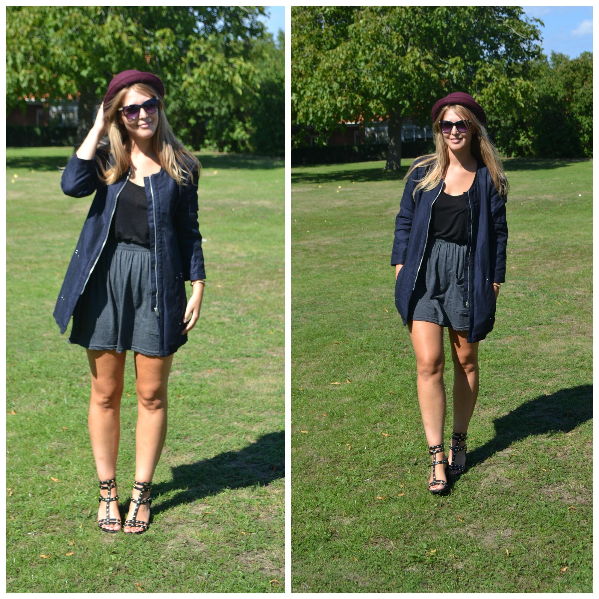 1f6efcc7a7fa Outfit description  skirt  American Apparel    top  Calvin Klein    coat