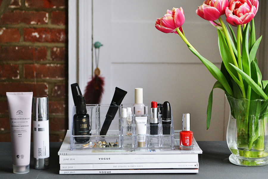 The beauty products I brought