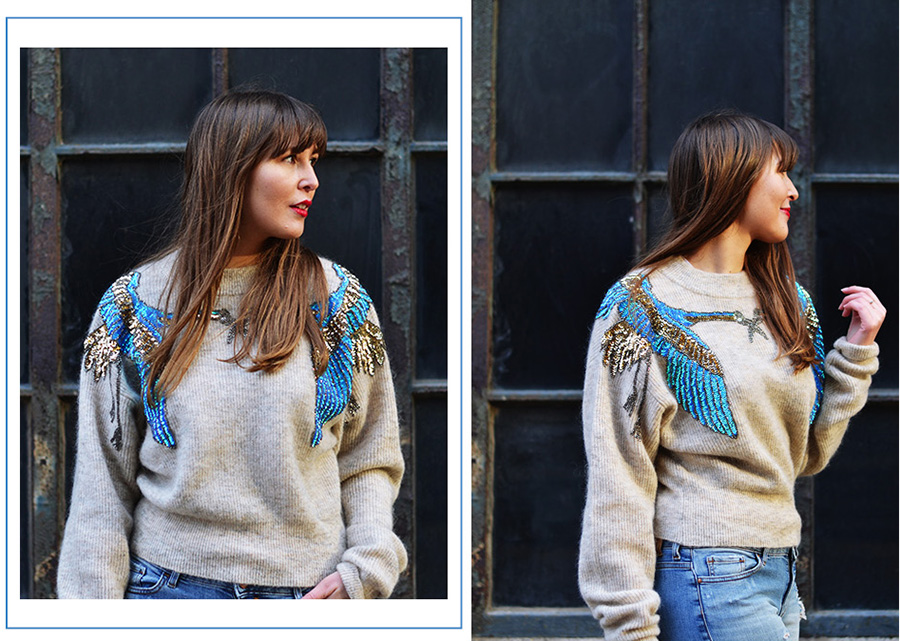 H&M sequinned sweater