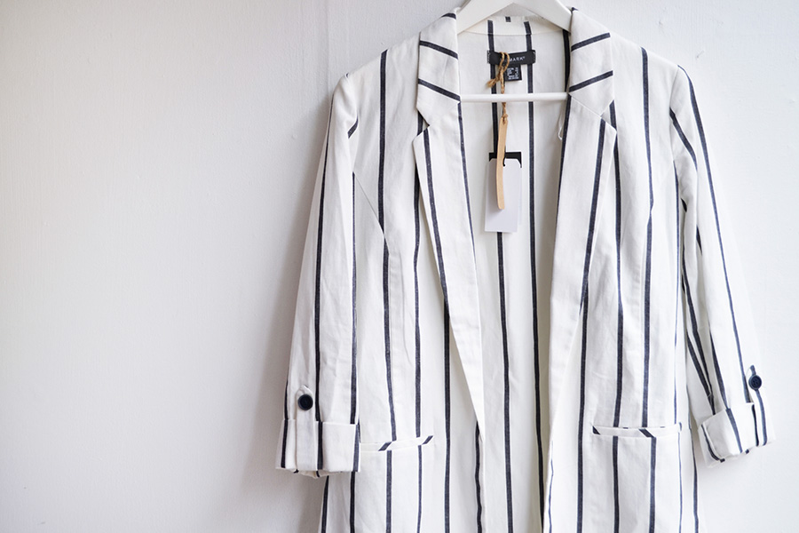striped blazer Primark